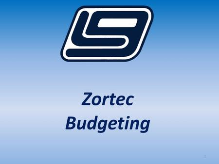 1 Zortec Budgeting. 2 In this session we will cover the basics of LGC's Zortec General Ledger Budgeting features. Topics include: Manual Budget Projections.