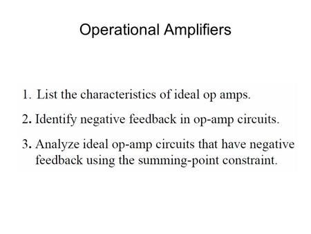 Operational Amplifiers. Chapter 14. Operational Amplifiers.