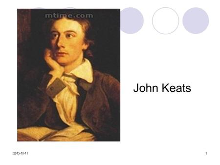 John Keats 2015-10-111. Ode to a Nightingale style of the poem This poem is written in disciplined 10-line stanza form which resembles the sonnet yet.