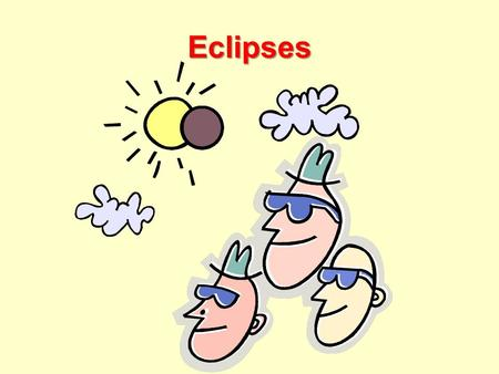 Eclipses What is an eclipse? The total or partial obscuring of one celestial body by another. Eclipses occur when the moon's orbit which is tilted becomes.