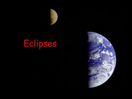 Eclipses. The Sun and Moon occasionally line up so that we have an eclipse. Revolution of the moon causes eclipses. An eclipse is defined as an astronomical.