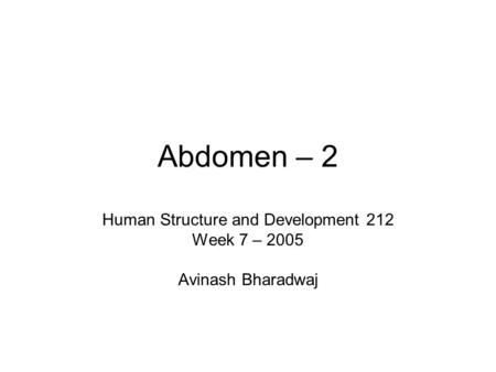 Human Structure and Development 212