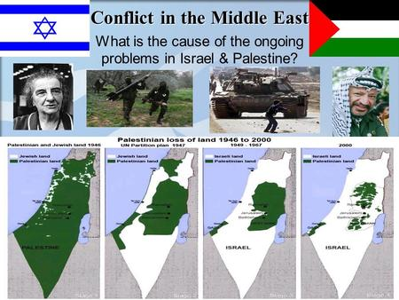 Conflict in the Middle East What is the cause of the ongoing problems in Israel & Palestine?