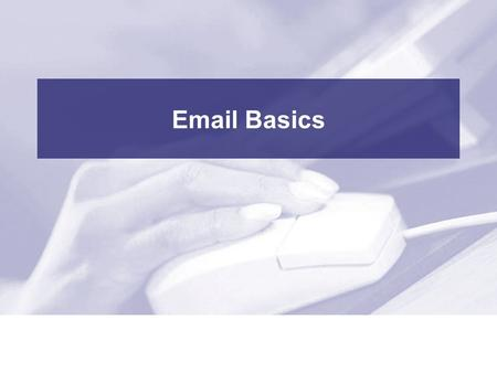 Email Basics. 2 Professional Development Centre Class Outline Part 1 - Introduction –Explaining email –Parts of an email address –Types of email services.