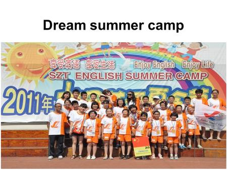 Dream summer camp. What do you usually do during your summer holiday?
