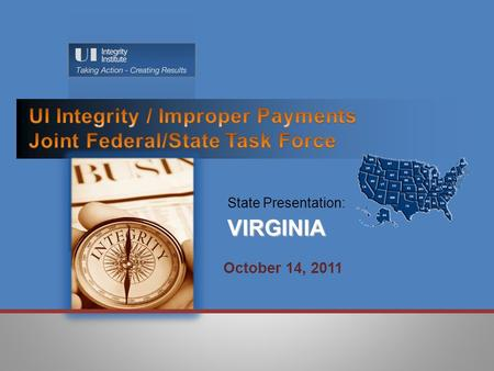 State Presentation:VIRGINIA October 14, 2011.  Separations (SEPs): Root Causes Identified:  Agency Causes  Communication Deficiencies / Internal and.