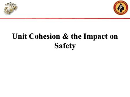 Unit Cohesion & the Impact on Safety. We don't see most of the decisions that our Marines make in combat or in garrison. Marines make good decisions in.