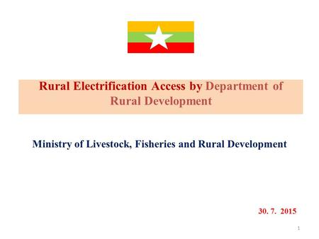Rural Electrification Access by Department of Rural Development