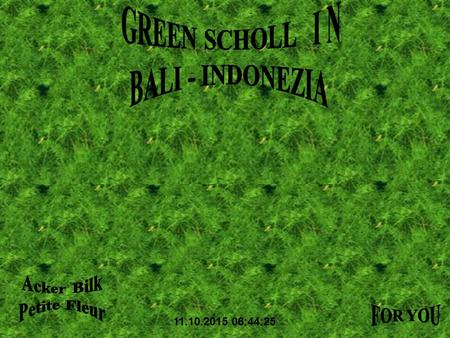 11.10.2015 06:46:12 Welcome to the green school in Bali, Indonesia. It provides its students with an education about the amazing environment that we.