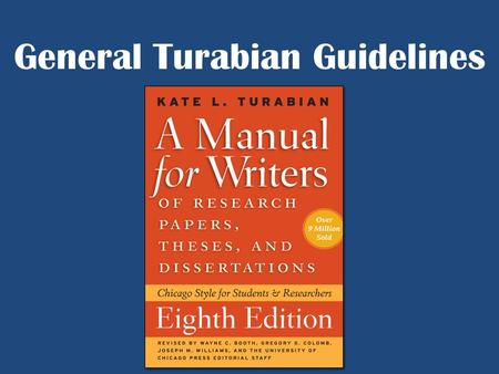 turabian style paper guidelines Chicago (turabian) style research paper writing tips the majority of high school, college and university history and humanities instructors require their students to use chicago/turabian writing style for their successful college essay papers.