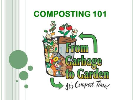 COMPOSTING 101. W HAT D O P LANTS N EED ? Fertilizer Compost.