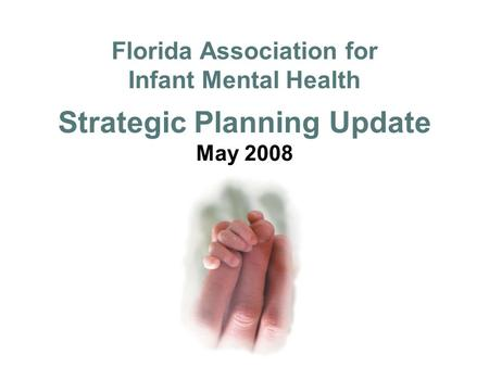 Florida Association for Infant Mental Health Strategic Planning Update May 2008.