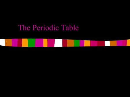 The Periodic Table. Basics Each element on the Periodic Table has a unique atomic structure Each element has a symbol that is used as a shorthand way.