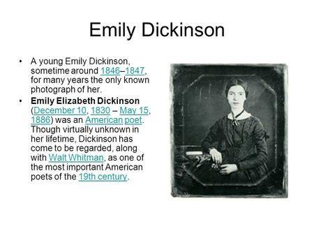 emily dickinson and walt whitman essay