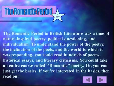 romantic poetry essay questions