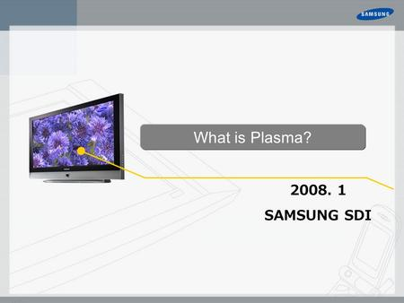 2008. 1 SAMSUNG SDI What is Plasma?. Which One is Better? More Economical than LCD 281 Trillion Color, Superb Uniformity Picture Noise Free, 100Hz More.