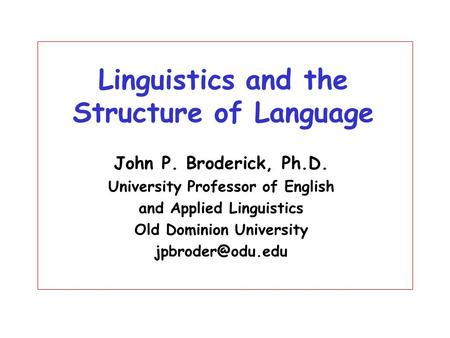 MSc in Applied Linguistics for Language Teaching