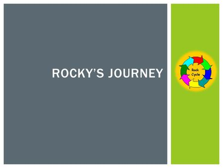 ROCKY'S JOURNEY. WARM UP DIAGRAM: ILLUSTRATE IN YOUR JOURNAL THE BELOW DIAGRAM.