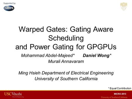Warped Gates: Gating Aware Scheduling and Power Gating for GPGPUs