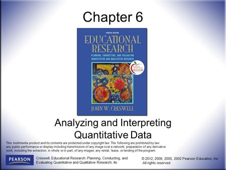 Analyzing and Interpreting Quantitative Data