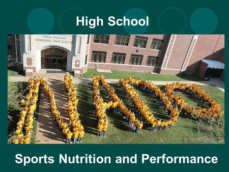 High School Sports Nutrition and Performance. Why Does Nutrition Matter? Good nutrition is important for peak athletic performance Fuel Repair and Rebuilding.
