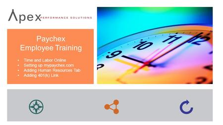 Paychex Employee Training Time and Labor Online