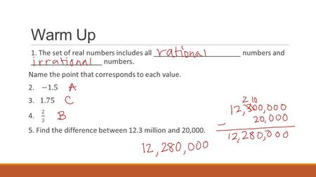 Warm Up. Lesson 22, Analyzing and Comparing Statistical Graphs PROBABILITY AND STATISTICS.