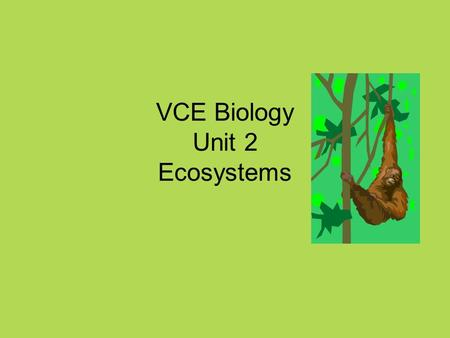 VCE Biology Unit 2 Ecosystems. Your Challenge (Final SAC – Yahoo!) Create an interactive power point presentation or Create an interactive poster (e.g.