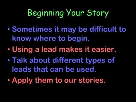 types of story leads How do you know what types of lead generation are best for your you might be wondering which type of lead generation to focus on or how partner stories.