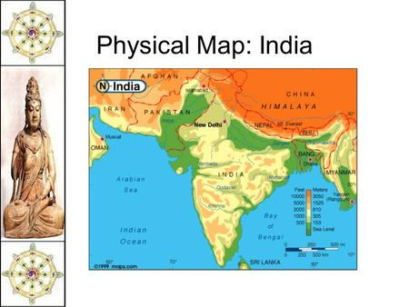 Physical Map: India.