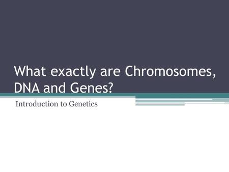 What exactly are Chromosomes, DNA and Genes? Introduction to Genetics.