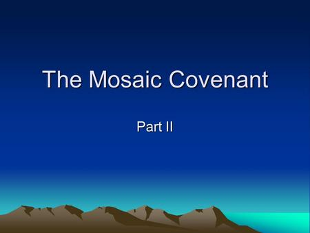 the abrahamic and mosaic covenants essay In a very helpful essay, richard pratt jr notes:  gals 3,4 is the prism through  which abrahamic/mosaic covenants must be understood.