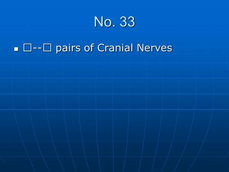 No. 33 Ⅶ -- Ⅻ pairs of Cranial Nerves Ⅶ -- Ⅻ pairs of Cranial Nerves.
