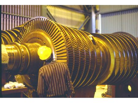 1. The flanges at the end of the two turbine shafts seen above, are bolted together to form a very rigid friction coupling 2.