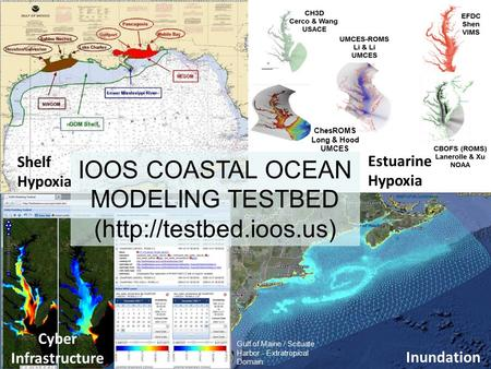 Gulf of Maine / Scituate Harbor - Extratropical Domain Shelf Hypoxia ChesROMS Long & Hood UMCES Estuarine Hypoxia Inundation Cyber Infrastructure IOOS.