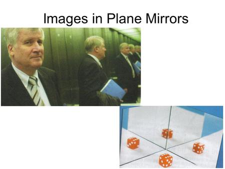 Images in Plane Mirrors. Properties of Images in Plane Mirrors Writing reflectively activity Object vs Image Distance.