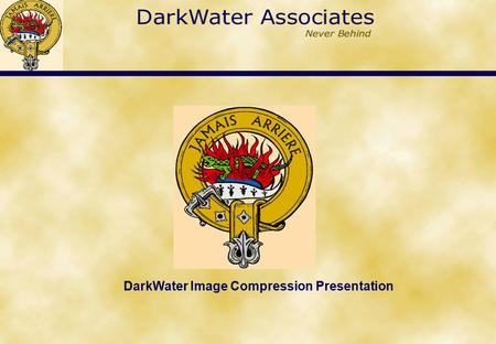 DarkWater Image Compression Presentation. Capable of compressing large and small images. Reduces 190 MB size image by 82 (8,200%) times whilst remaining.