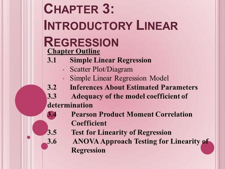 Chapter 3: Introductory Linear Regression