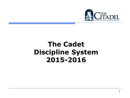1 The Cadet Discipline System 2015-2016. 2 Overview Blue Book Corrections and Punishments Merits/Demerits Investigations & Boards Appeals Class Absences.