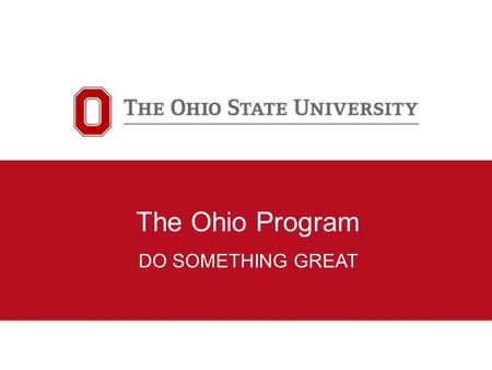 The Ohio Program DO SOMETHING GREAT. 2 GLOBAL INTERN PROGRAM WHERE?