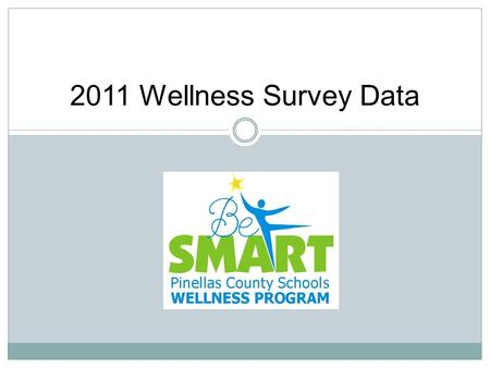2011 Wellness Survey Data. 2 The 2011 Wellness Interest survey is sent out to staff by email and in the SMART START Newsletter. 3978 staff participated.