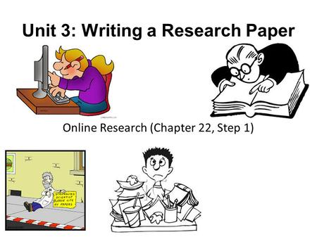 writing chapter one of a research paper