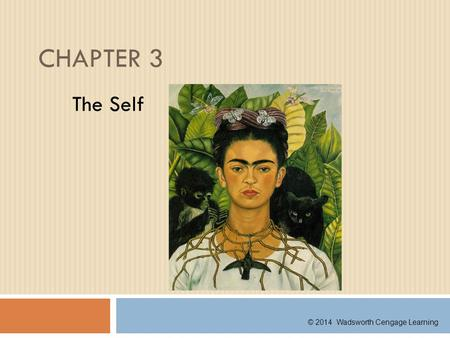 CHAPTER 3 The Self © 2014 Wadsworth Cengage Learning.