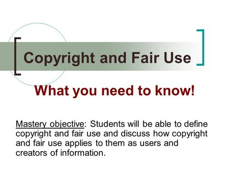a definition of copyright free public domain and fair use
