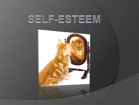 WHAT IS SELF ESTEEM?  Self esteem or self concept refers to a person's feelings or mental images about himself/herself  People with high self esteem.