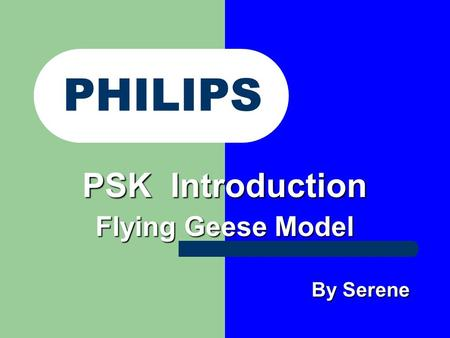 PSK Introduction Flying Geese Model By Serene By Serene PHILIPS.