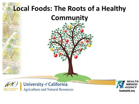 Local Foods: The Roots of a Healthy Community. Nutritional Concerns in Stanislaus Consequences of Obesity: – Heart disease – Type 2 diabetes – Cancers.