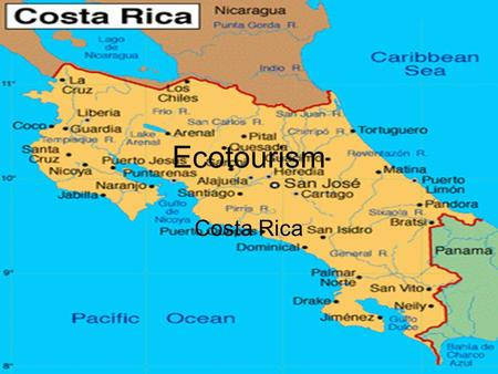 Ecotourism Costa Rica. The Situation The idea behind ecotourism in Costa Rica is to preserve natural resources while profiting from them. However, Costa.