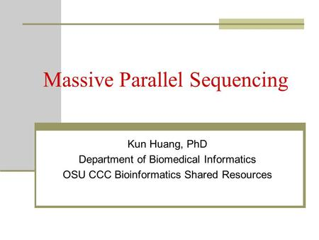 Massive Parallel Sequencing
