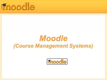 Moodle (Course Management Systems). Glossaries Moodle has a tool to help you and your students develop glossaries of terms and embed them in your course.